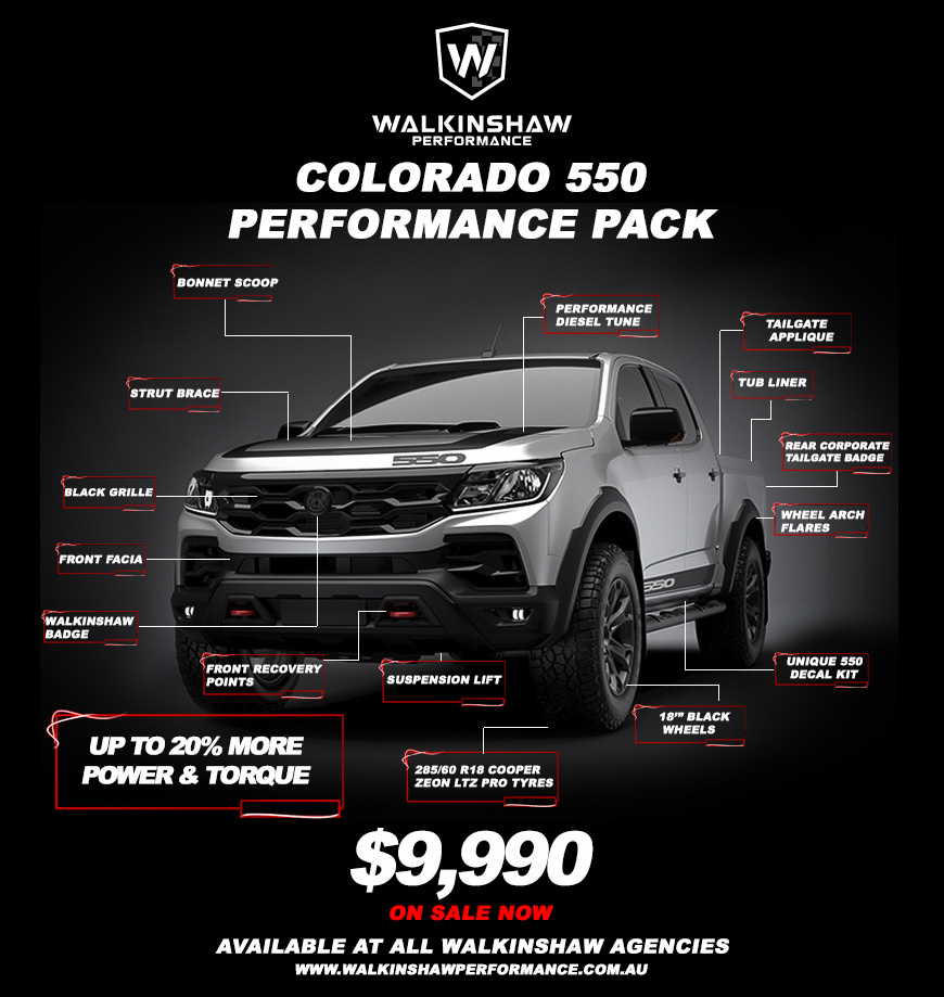 Walkinshaw Performance Colorado 550 Performance Pack Promotion